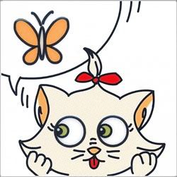 NT/A131/5009 Декор Кошки-Мышки Бабочка20х20 - фото 20008
