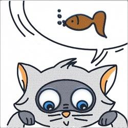 NT/A133/5009 Декор Кошки-Мышки. Рыбка 20х20 - фото 20011