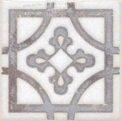 STG/A406/1266 Вставка Амальфи орнамент коричневый 9,9х9,9х7 - фото 20112