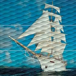 ALD/A01/3x/13025R Панно Майори Корабль обрезной 90х90х11 - фото 20340