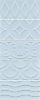 16015 Авеллино голубой структура mix 7,4х15х6,9 - фото 22074