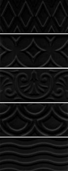 16016 Авеллино чёрный структура mix 7,4х15х6,9 - фото 22075