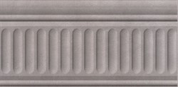 19033/3F Бордюр Александрия серый структурированный 20х9,9х6,9 - фото 24473