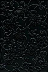 8217 Аджанта цветы черный 20х30 - фото 17159