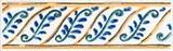 STG/A493/1146 Бордюр Капри майолика 9,9х3х7