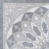HGD/B37/TU0031L Декор Монтаньоне серый лаппатированный 1/4 розона 42х42х9