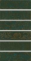 AD/E333/6x/2914 Панно Кампьелло зеленый, 6 частей 8,5х28,5 (размер каждой части) 51х28,5х7