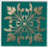 HGD/E252/5246 Вставка Клемансо зелёный 4,9х4,9х6,9