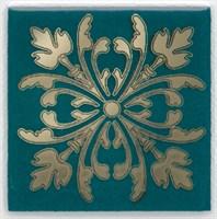 HGD/F252/5246 Вставка Клемансо зелёный темный 4,9х4,9х6,9