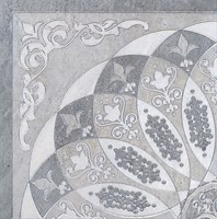 HGD/B37/SG1550L Декор Монтаньоне серый лаппатированный 1/4 розона 40,2х40,2х8
