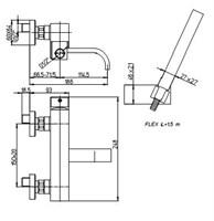 Смеситель Paini Dax-R 84CR105R для ванны