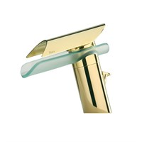 Смеситель золотой Paini Morgana 73OP211VRKM для раковины
