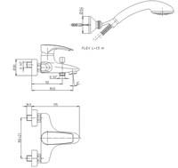 SRCR105 Spider смеситель для ванны с акс., хром