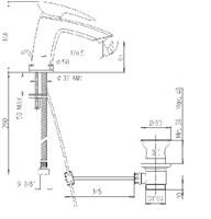 SRCR211KM Spider смеситель для раковины с д/к., хром