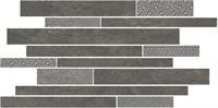 SBM011/SG4585 Декор Ламелла серый темный мозаичный 50,2x25x9,5