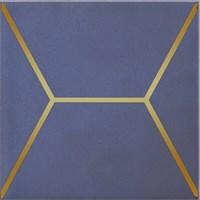 OP/C181/17065 Декор Витраж синий 15x15x6,9