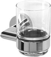 3684 Стакан стекло с держателем Aquanet, хром (187039)