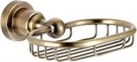 3811 Мыльница металическая прямоугольная Aquanet, латунь (189272)