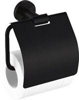 4586MB Держатель для туалетной бумаги закрытый Aquanet, черн.мат (241914)