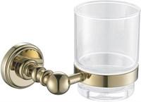 4684 Стакан стекло с держателем Aquanet, золото (189282)
