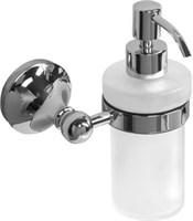 5581-1 Дозатор для мыла стекло с держателем Aquanet, хром (187052)