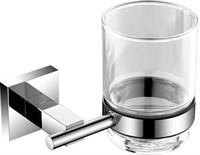 6184 Стакан стекло с держателем Aquanet, хром (202104)