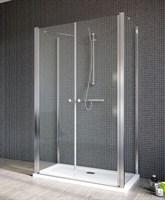 Двустворчатые распашные душевые двери EOS II DWD+2S дверь 80 арт. 3799400-01