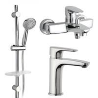 47CRKIT3 Parallel 3 в 1, комплект для раковины и ванны с душевой стойкой, хром