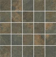 MM12132 Декор Рамбла коричневый мозаичный 25х75
