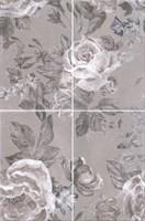 8272/4x/3F Панно Александрия серый, панно из 4 частей 20х30 (размер каждой части) 40х60х6,9 - фото 24471